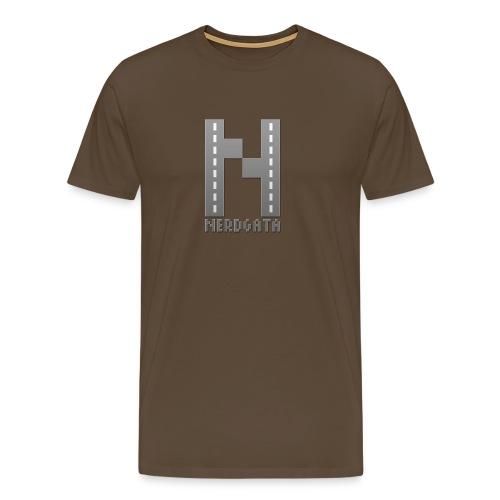 nerdgata logo gradiant - Premium T-skjorte for menn