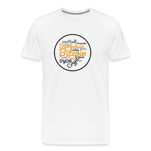 Bitcoin Tag Cloud - Men's Premium T-Shirt