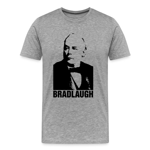 nssshirtbradlaughblack - Men's Premium T-Shirt
