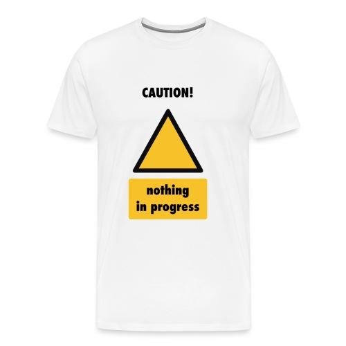 caution nothing in progress sign png - Men's Premium T-Shirt