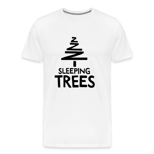 SleepingTrees Black png - Men's Premium T-Shirt