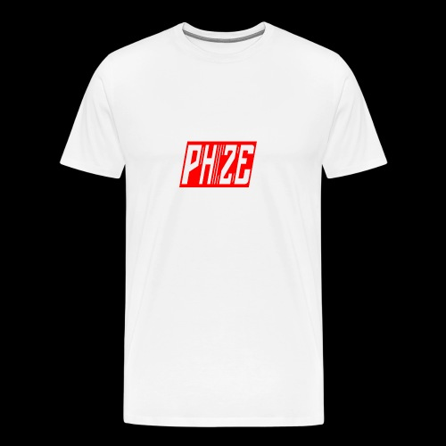 PHIZE ROUGE LOGO - T-shirt Premium Homme