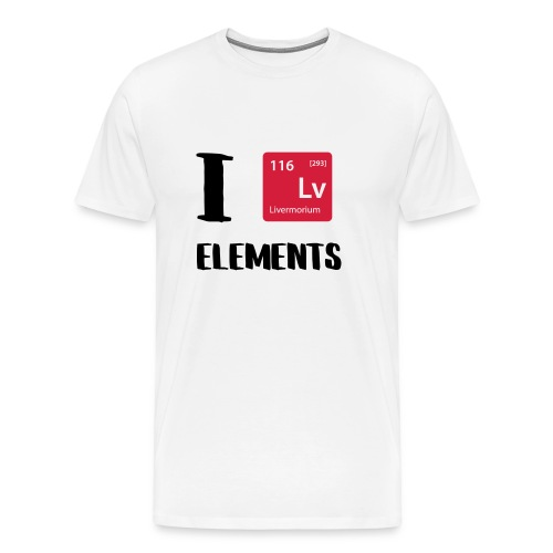 I love Elements - Männer Premium T-Shirt