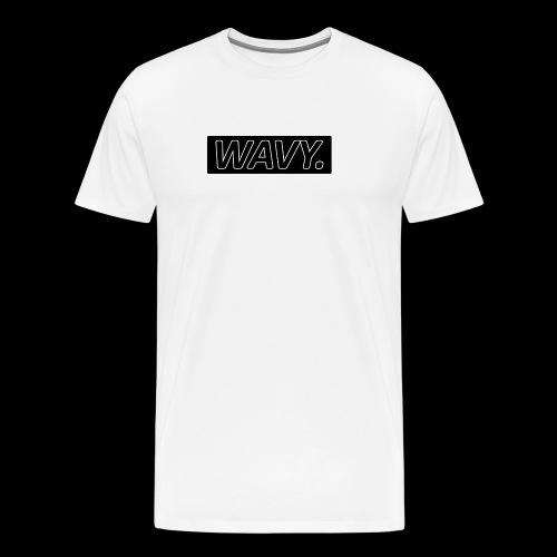 BLACK WAVY. RECTANGLE - T-shirt Premium Homme