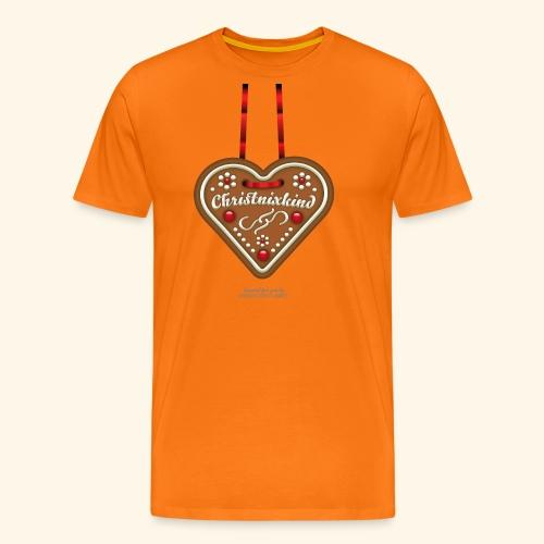 Weihnachts T Shirt Christnixkind Lebkuchenherz - Männer Premium T-Shirt