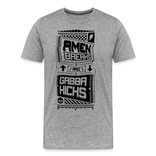 Amen Breaks & Gabba Kicks - Men's Premium T-Shirt
