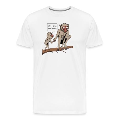 Halts Maul Mike - Makaken - Männer Premium T-Shirt
