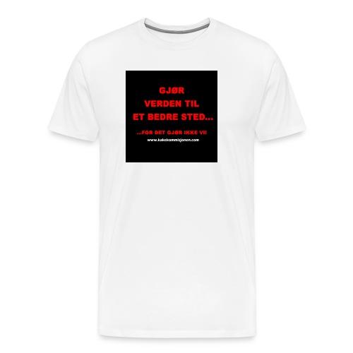 Button Gjor verden - Premium T-skjorte for menn