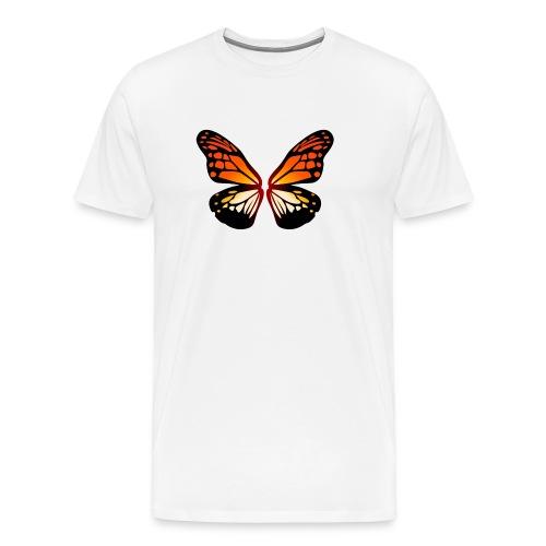 Butterfly wings On Fire - Premium T-skjorte for menn