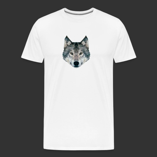 Loup LowPoly - T-shirt Premium Homme