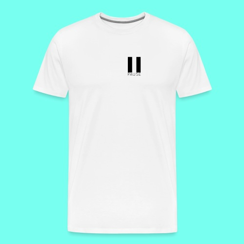 Black Pause Logo - Men's Premium T-Shirt