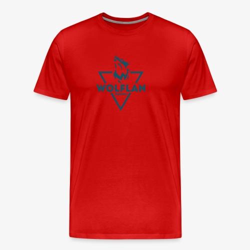WolfLAN Logo Gray/Blue - Men's Premium T-Shirt