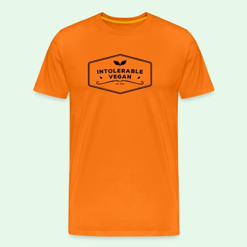 Intolerable Vegan Logo - Black - Premium-T-shirt herr