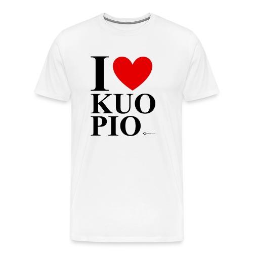 I LOVE KUOPIO ORIGINAL (musta) - Miesten premium t-paita