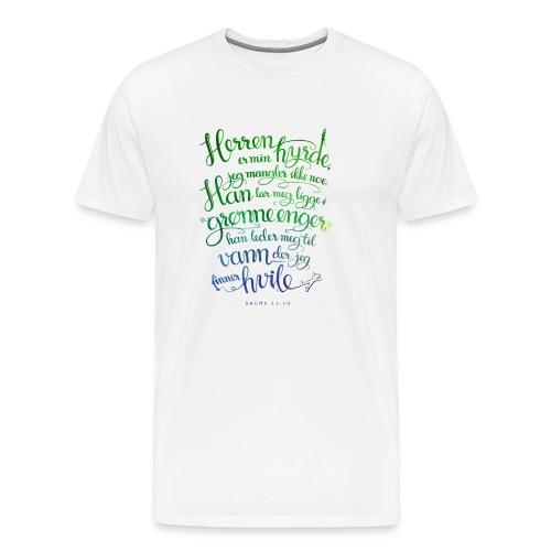 Herren er min hyrde - Premium T-skjorte for menn