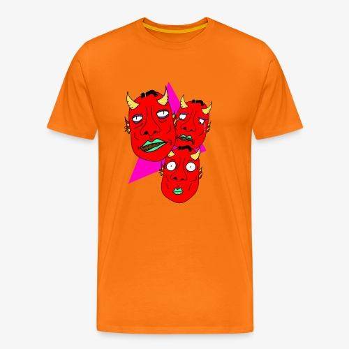 The Three Devils - Premium-T-shirt herr