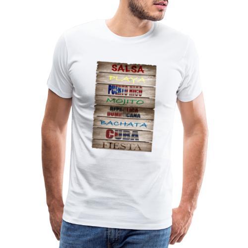 #SalsaEsLaCura panneau bois salsa - T-shirt Premium Homme