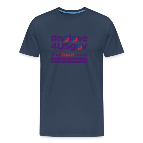 nolovewhite01 - Men's Premium T-Shirt