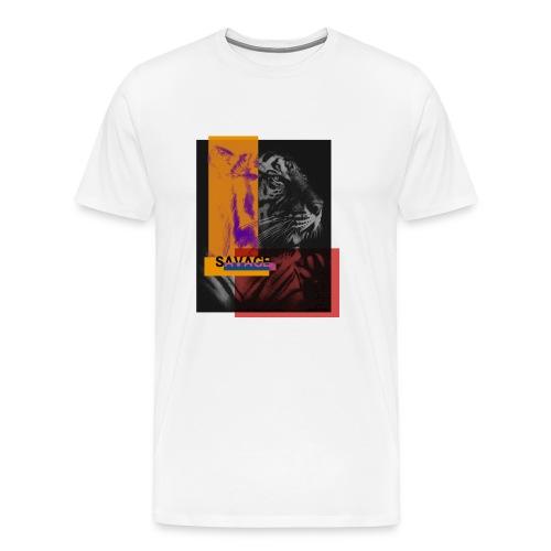 Tigre con deformación de colores - Camiseta premium hombre