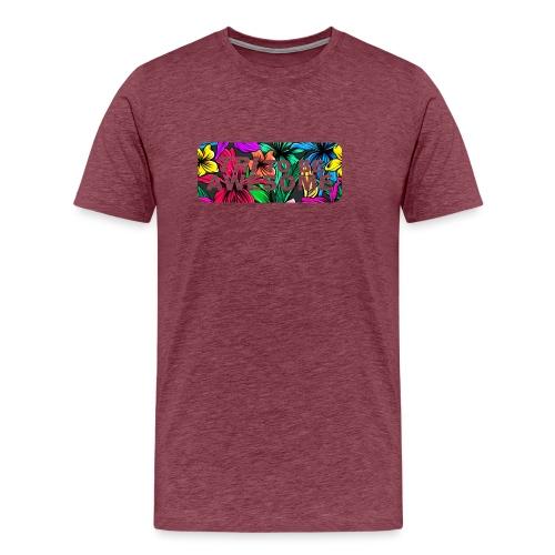 Tri to be Awesome Dschungel Block - Männer Premium T-Shirt