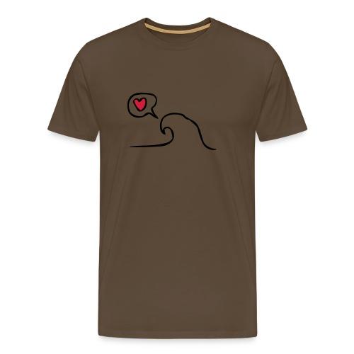 Love Wave - Mannen Premium T-shirt