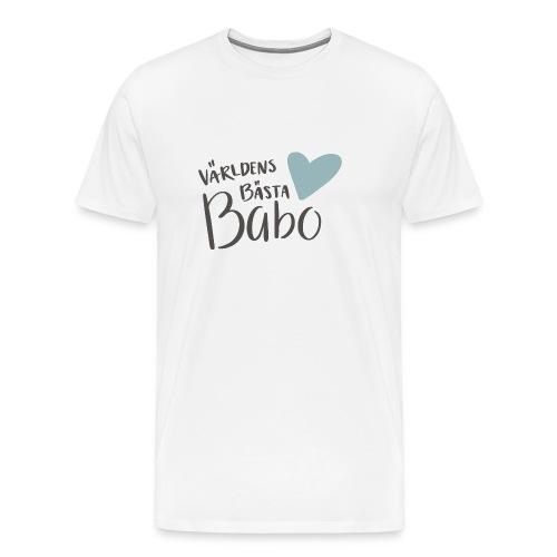Världens bästa Babo - Premium-T-shirt herr