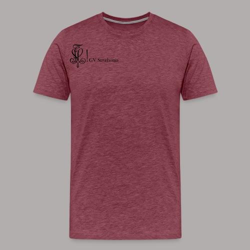 Zirkel mit Name, schwarz (vorne) - Männer Premium T-Shirt