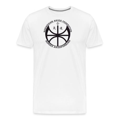 Svart NAF logo - Premium T-skjorte for menn