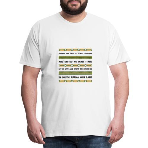 South Africa Anthem - Men's Premium T-Shirt