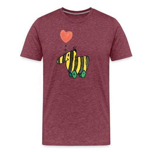 Janoschs Tigerente mit Herz - Männer Premium T-Shirt