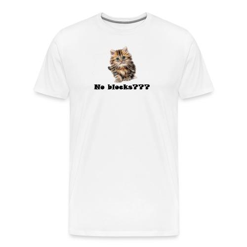 No block kitten - Premium T-skjorte for menn