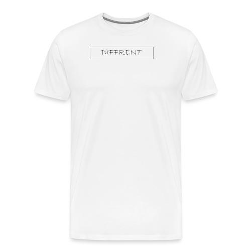 diffrent white logo - Premium-T-shirt herr