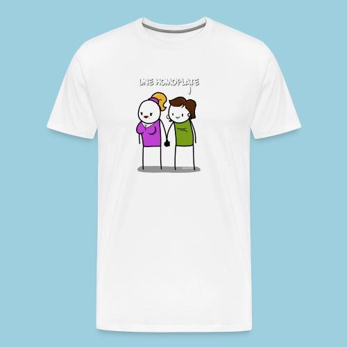 Homoplate blanc - T-shirt Premium Homme