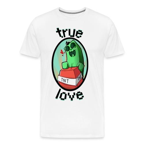 Happy Creeper png - Maglietta Premium da uomo