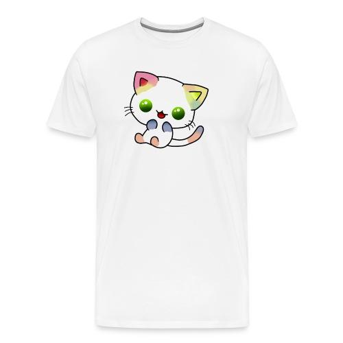 Gato Coloreado Kawaii - Camiseta premium hombre