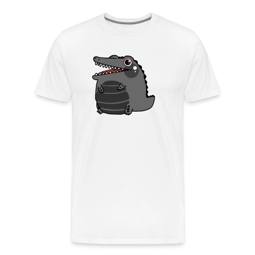 Cocodrilo Negro Kawaii - Camiseta premium hombre