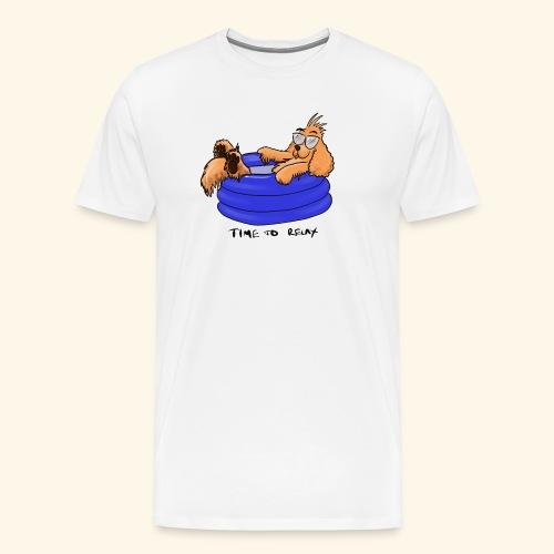 Bernie in the pool - Men's Premium T-Shirt