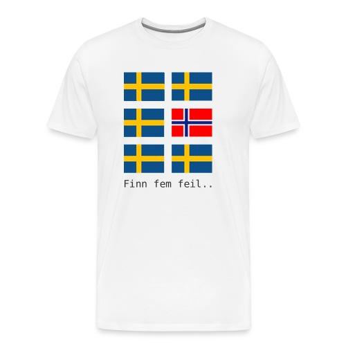 finn fem feil - Premium T-skjorte for menn