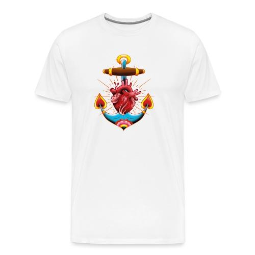 Sailor's Heart - Tattoo design - T-shirt Premium Homme