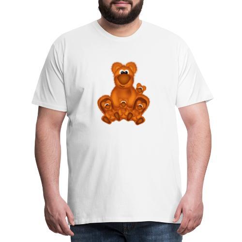 Bärige Mutterliebe - Männer Premium T-Shirt