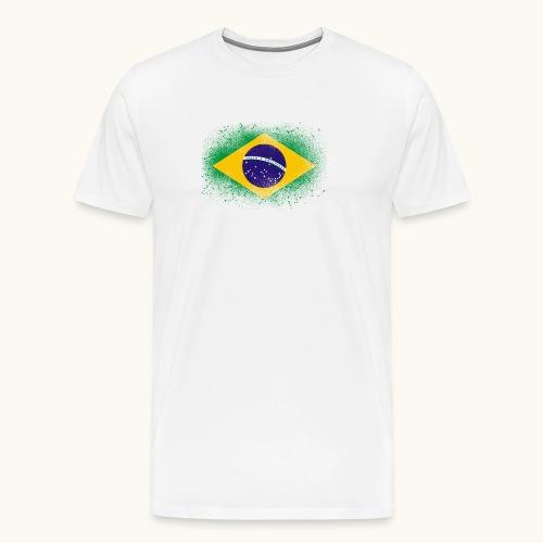 Drapeau brésilien cadeau du Brésil - T-shirt Premium Homme