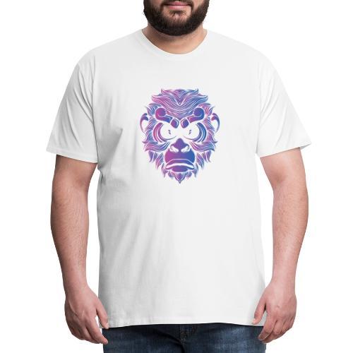 Affe Gorilla Gesicht - Männer Premium T-Shirt