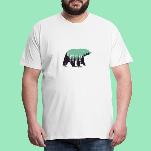 Forest bear - Mannen Premium T-shirt