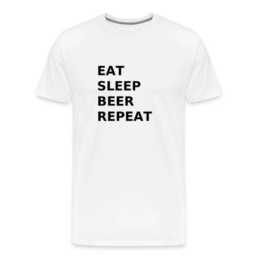 Eat Sleep Beer Repeat - Männer Premium T-Shirt