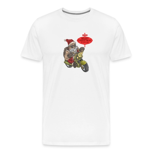 Santa Claus wishes you a Merry Christmas - T-shirt Premium Homme
