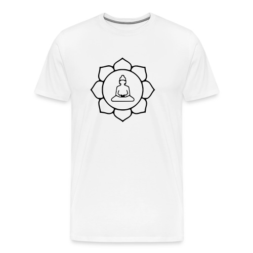 1024px Lotus buddha svg png - Men's Premium T-Shirt