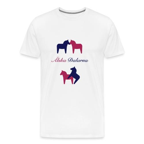Dalahästar, älskande - Premium-T-shirt herr