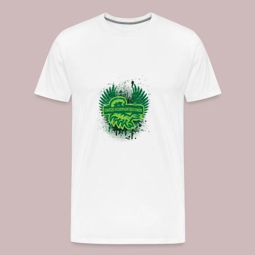 GreenScorpionlogo png - Männer Premium T-Shirt