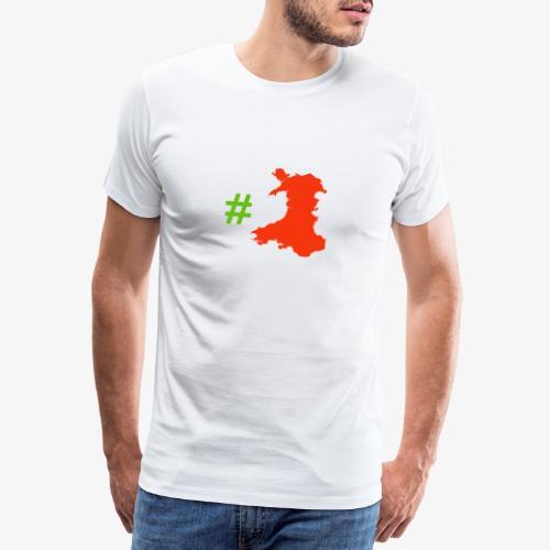 Hashtag Wales - Men's Premium T-Shirt