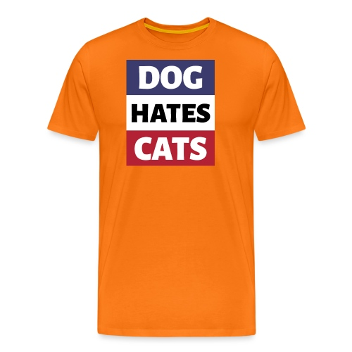 Dog Hates Cats - Männer Premium T-Shirt